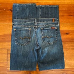 7 For All Mankind 'Bootcut' Jeans Size 28 EUC